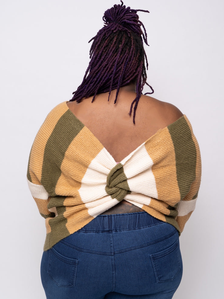 Catherine Open Back Sweater