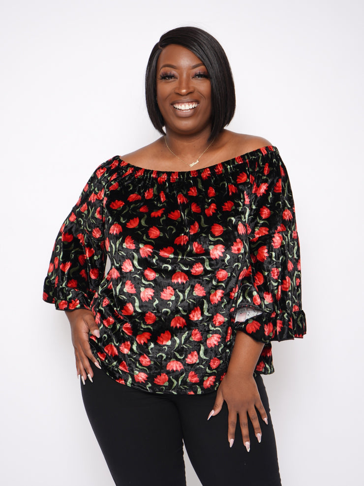 Rosebud Off The Shoulder Top