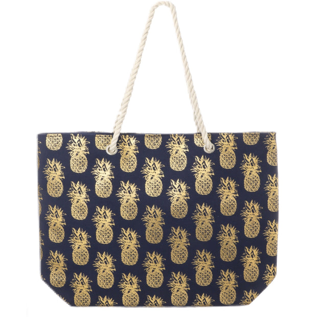 Pineapple Tote Navy