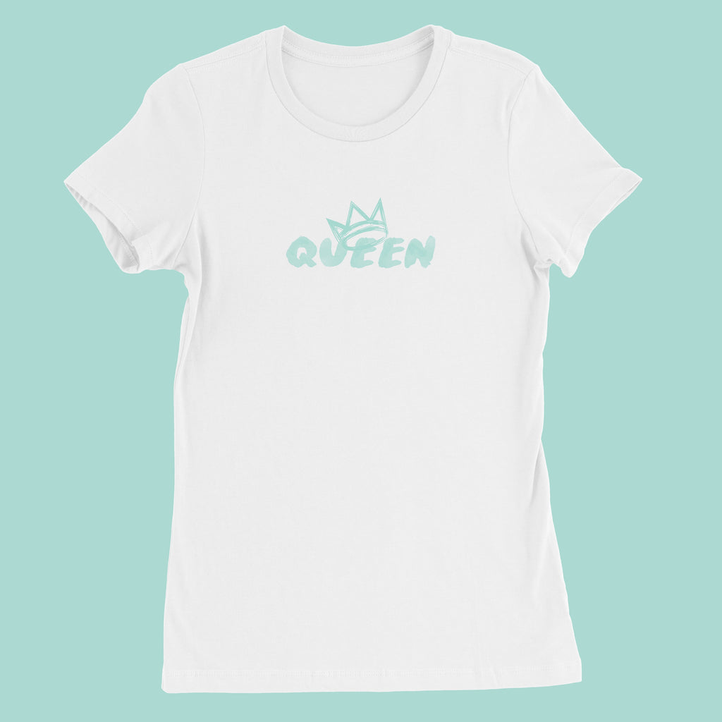 Queen Crown Collection (White Short Sleeve T-Shirt Mint Crown)