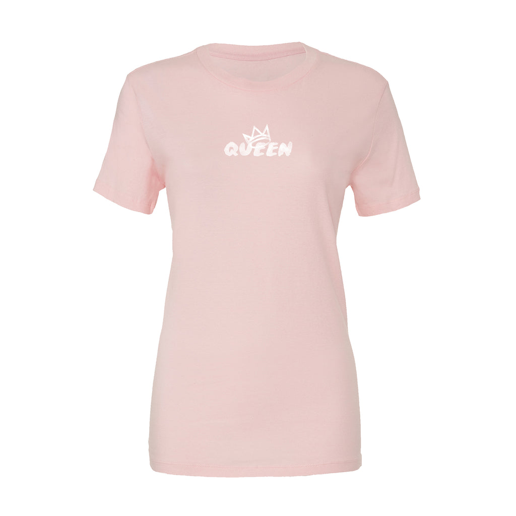 Queen Crown Collection (Pink Short Sleeve T-Shirt White Crown)