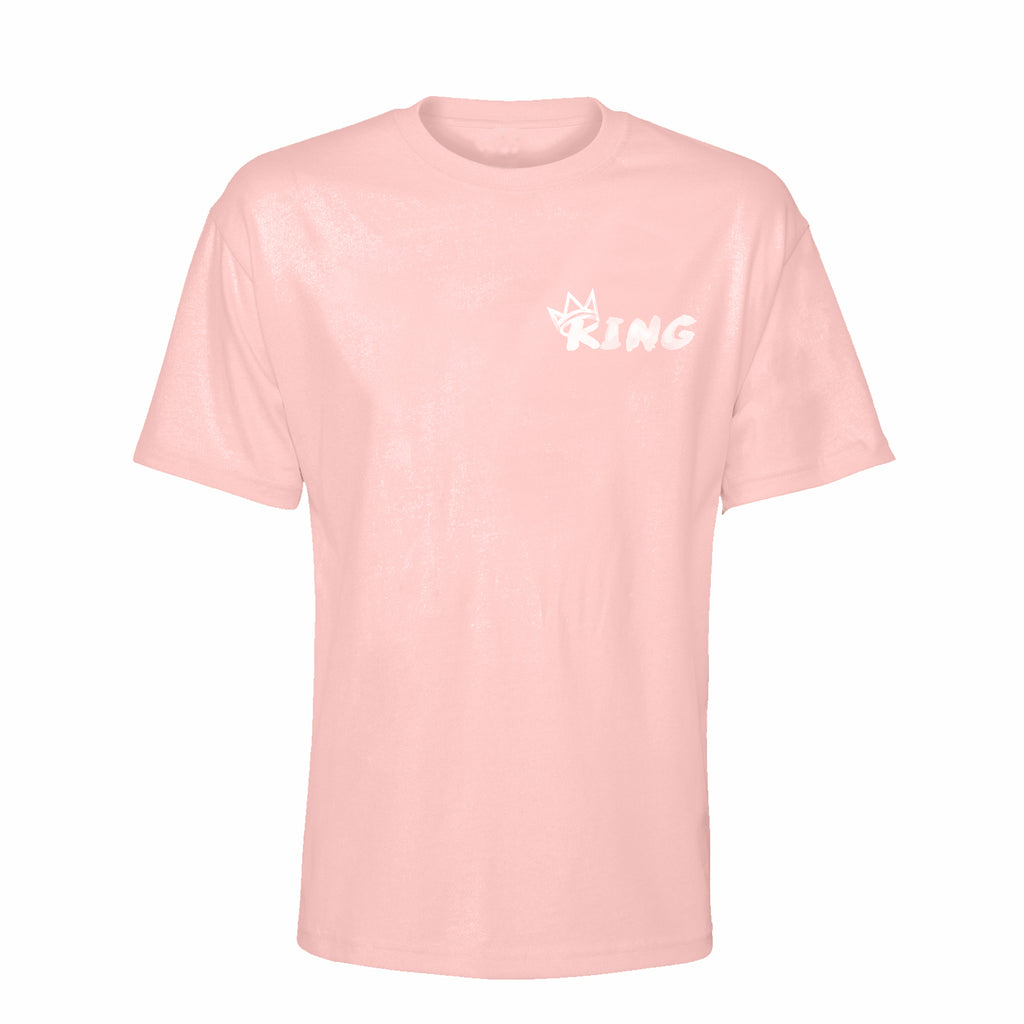King Crown Collection (Pink Short Sleeve T-Shirt White Crown)
