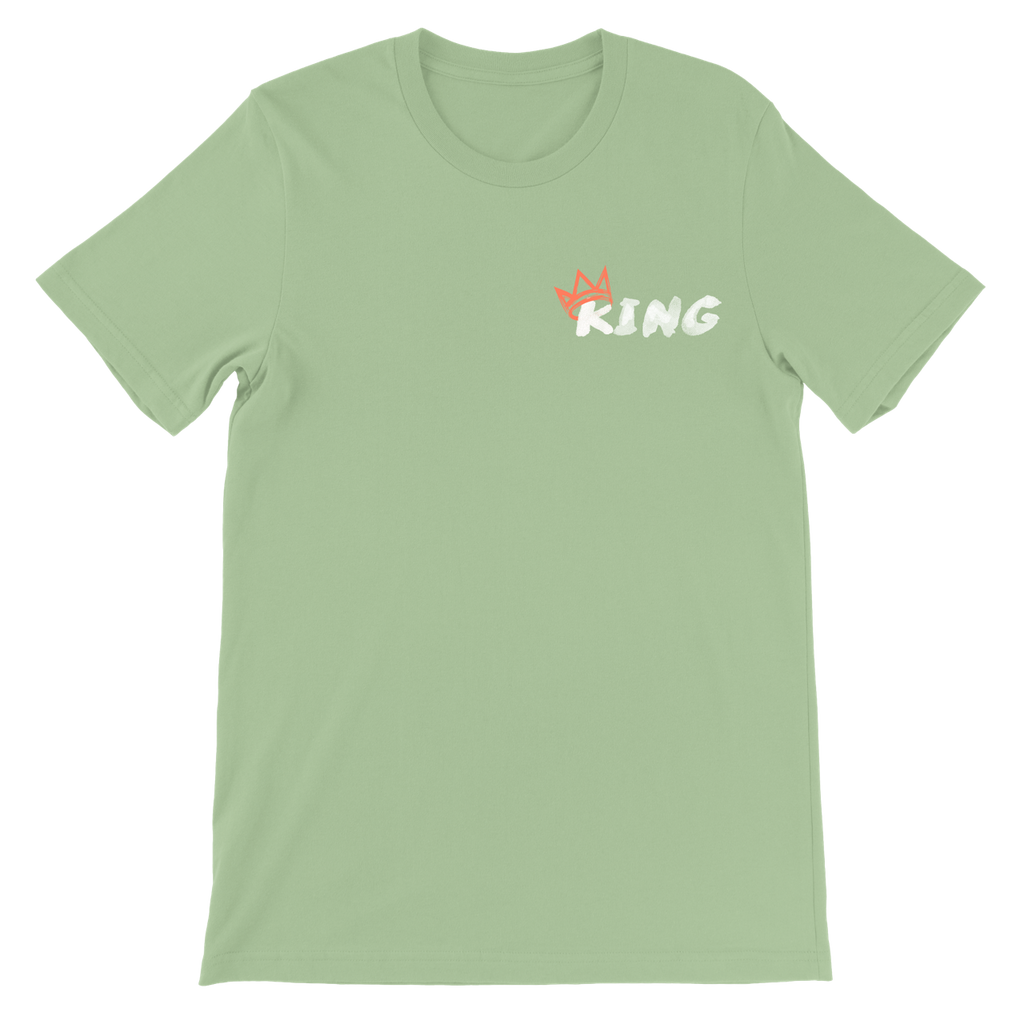 King Crown Collection (Leaf Short Sleeve T-Shirt Coral Crown)
