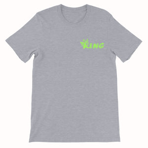 King Crown Collection (Grey Short Sleeve T-Shirt Green Crown)