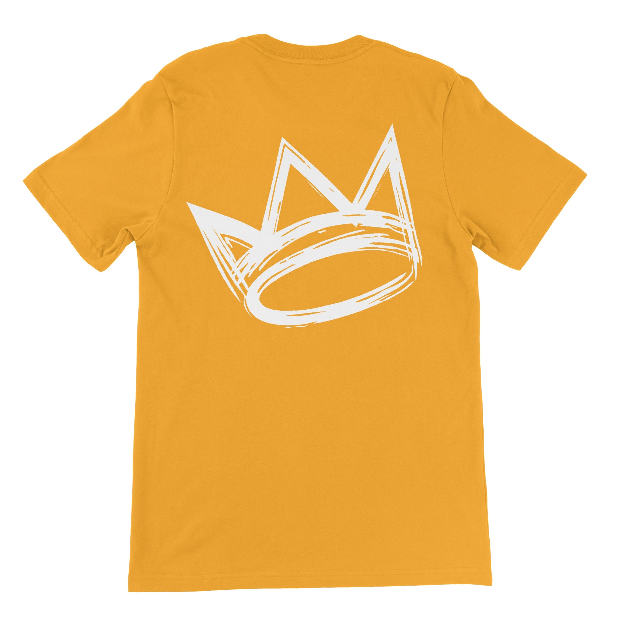 King Crown Collection (Gold Short Sleeve T-Shirt White Crown)