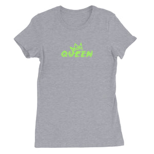 Queen Crown Collection (Grey Short Sleeve T-Shirt Green Crown)