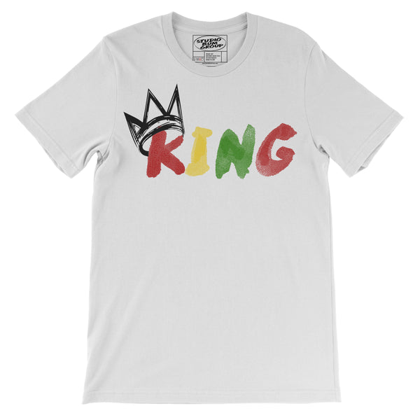 King Originals (White Short Sleeve T-Shirt Black Crown)