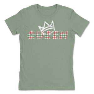 Queen White Madras Short Sleeve T-Shirt