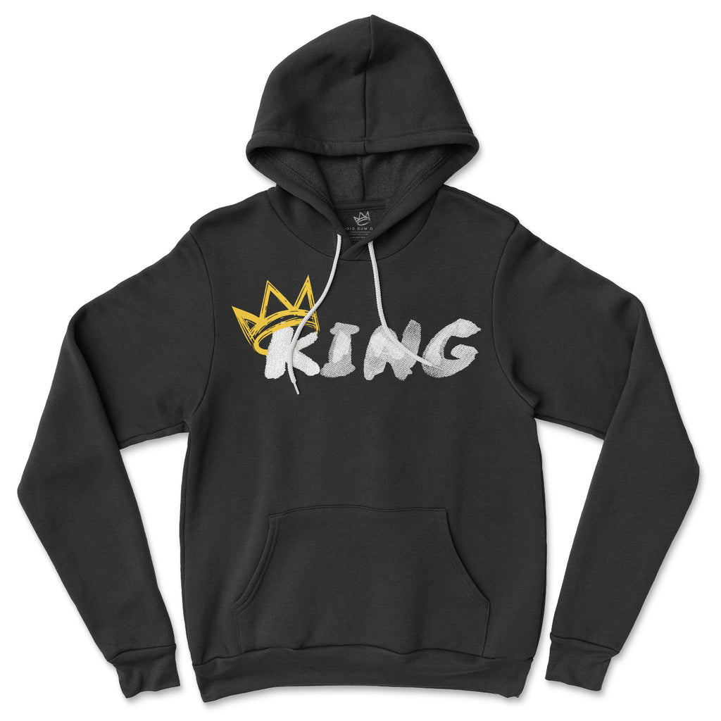 King Hoodie (White Print | Gold Crown)