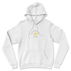 Heavy Is The Head That Wears The Crown Embroidery (White Hoodie)