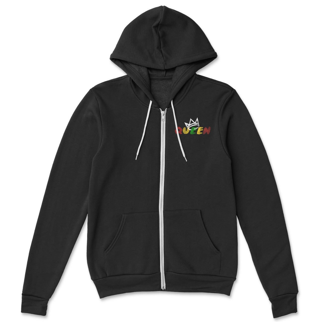 Queen Black Zip Up Hoodie (Crown Collection)