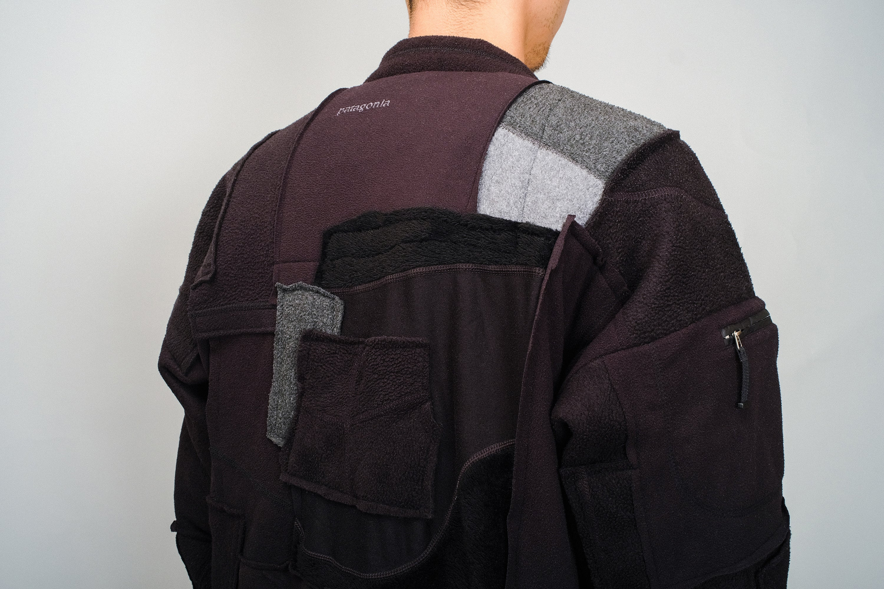 WS - SUSTAINABLE PATCHWORK COAT FLEESE