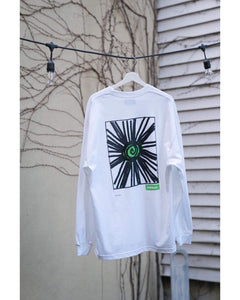 """SUN"" Long Sleeve T-shirts -white"