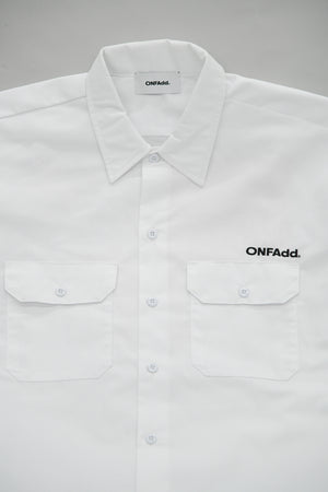"#002 ""Wall"" WORK SHIRT WHITE"