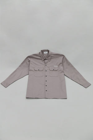 "#002 ""Wall"" WORK SHIRT SILVER GRAY"