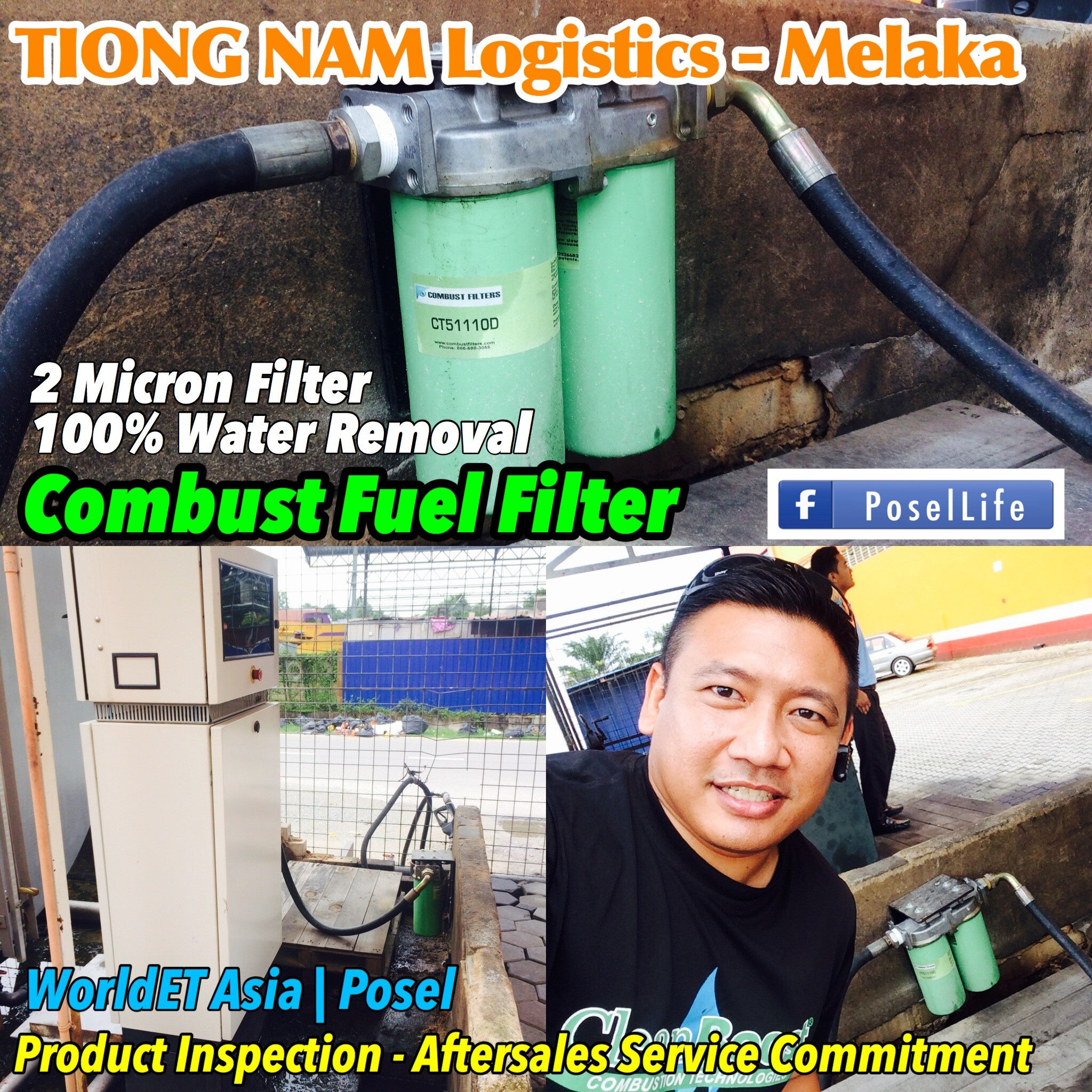 Combust Fuel Filter Storage Tank Applications Posel Cts