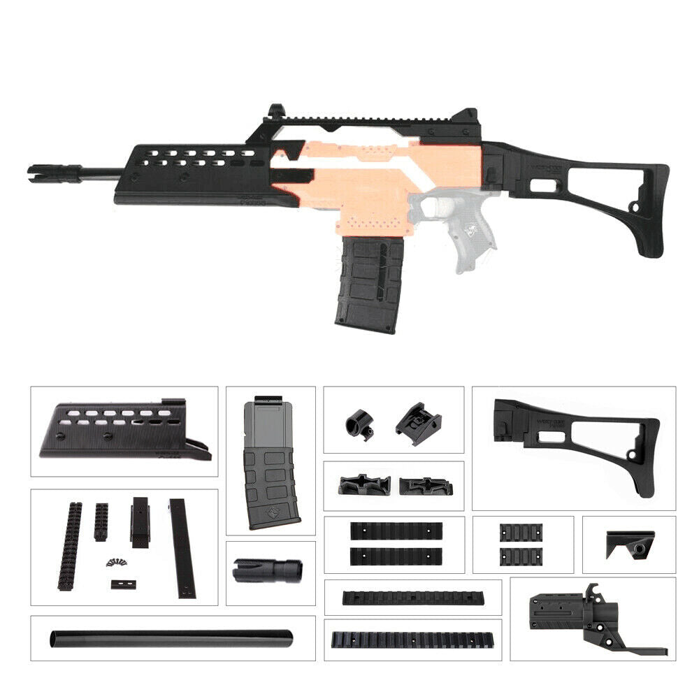 Worker Mod Imitation G36 Rifle Kits Type C Long Front Barrel 3D Printed for  Nerf STRYFE Toy