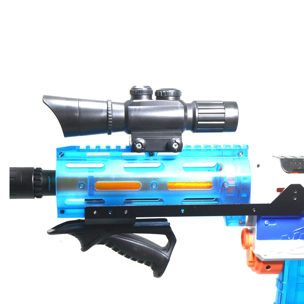 Tactical Top Scope Sight Attachment Adjustable Rails Black for Nerf Modify Toy