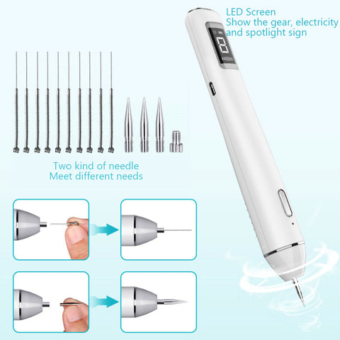 NEW 6-speed Wireless Charging LCD Beauty Pen  Beauty Device [19001]