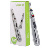NEW Electric Acupuncture Meridian Energy Massage Pen Laser Beauty Care Pen + 3 Heads Beauty Device[19002]