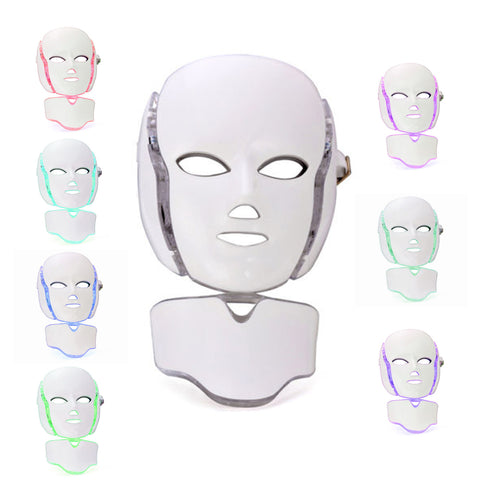 7 Colors LED Mask Photon Facial Neck Skin Rejuvenation Therapy Reduces Wrinkles[602]
