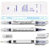 Beauty Tool Tattoo Piercing Skin Marker Pen with Ruler [620]
