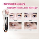Eye Care Cold & Hot Massage Instrument RF Vibration Remove Wrinkle Beauty Device [887]