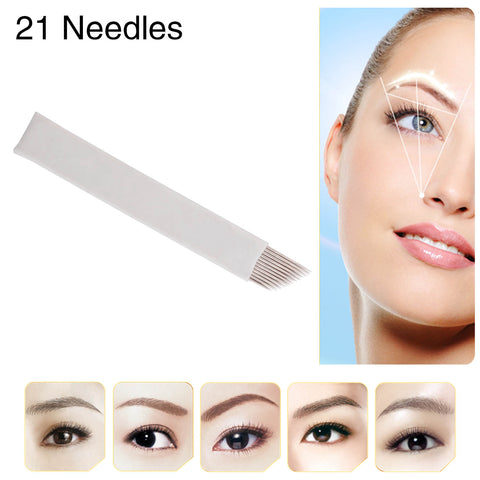 Eyebrow Tattoo Pencil Tips For Eyebrow Pen Needles Double Oblique cartridges 50pcs/box [496]