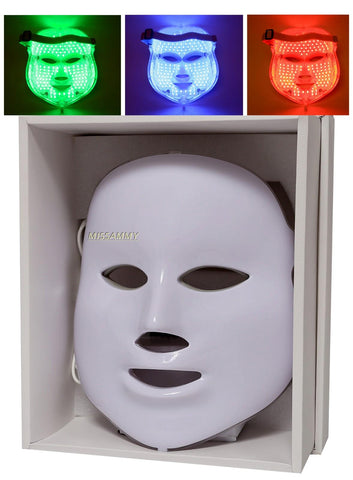 3 Color LED Mask Skin Rejuvenation Beauty Photodynamic Anti Acne [176]