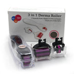 Titanium DRS Derma Roller 3 In 1 Body Face Eye Interchangeable Heads [502]