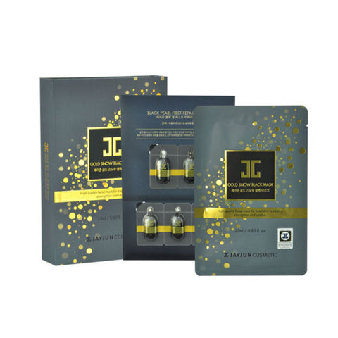 [ Jayjun ] Facial Mask Gold Snow Black Mask 5pcs/pack [745]