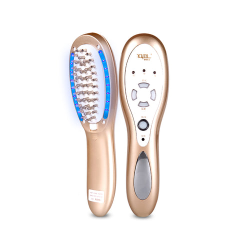 Electric Rechargeable Multi-functional Vibration Hair  Comb Beauty Device [833]
