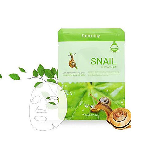 [ Farm Stay ] Korean Deep Moisturizing Rich Snail Mucin Visible  Facial Mask 10 pcs/Packs [876]