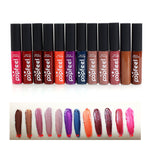 Promotions [Popfeel] Waterproof Matte Cream Liquid Lipstick Moisturize Lip Gloss 12 Pcs K-Beauty  [MZ002]