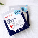 [ Sur.Medic ] Facial Mask +Super Hyaluronic 100 Aqua Mask 30g *10ea( 1 Pack) / Korea [MZ017]