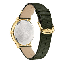 Versace V-CIRCLE 42mm Leather Strap with striped texture
