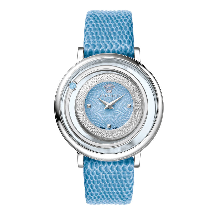 Versace Venus Stainless Steel Case with Blue Strap