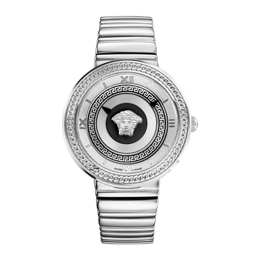 Versace V-Metal Icon 40 mm Stainless Steel Bracelet
