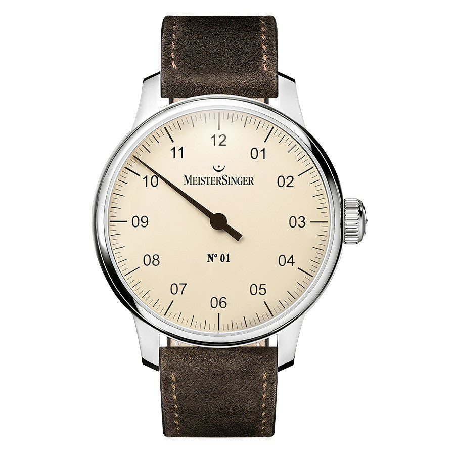 Meistersinger No.01 AM3303 Ivory 43mm