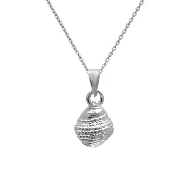 Conch Shell 925 Silver Pendant w/ Chain