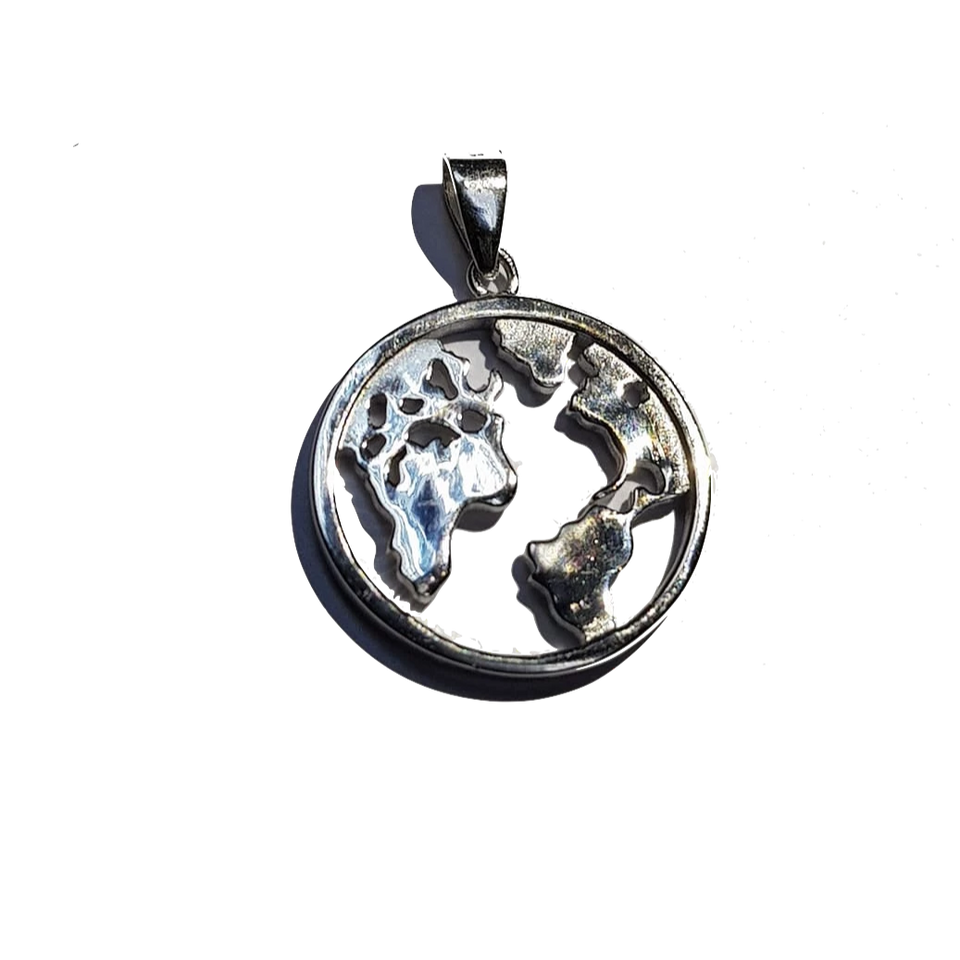 Sterling Silver Earth Pendant