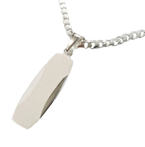 Sterling Silver Wakeskate Pendant w/ Sterling Silver Cuban Chain