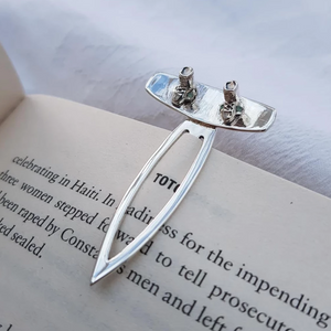 Sterling Silver Wakeboard Bookmark