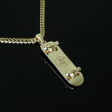 18K GOLD PLATED PENDANT & CUBAN CHAIN