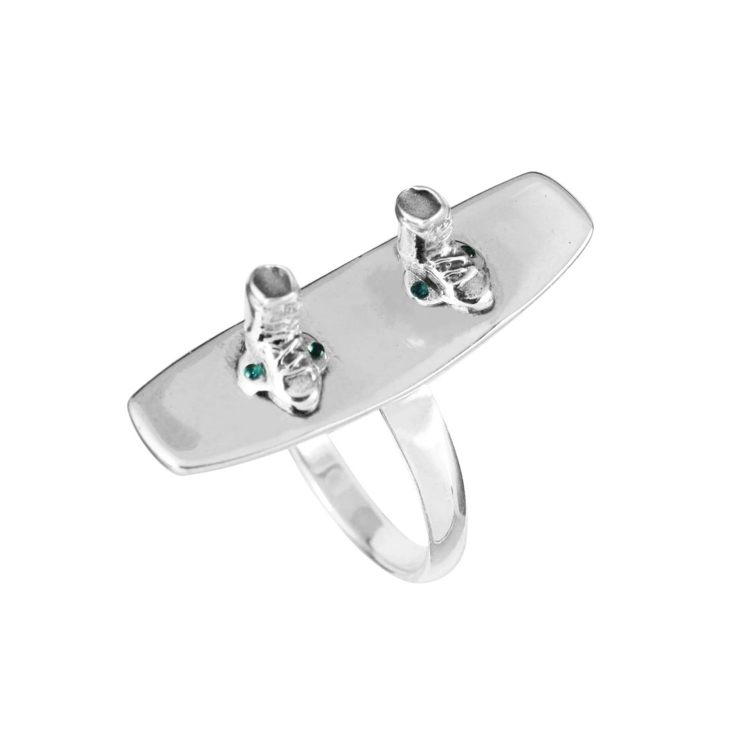 Sterling Silver Wakeboard Ring