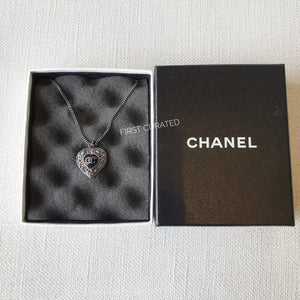 Chanel Heart Stud Necklace