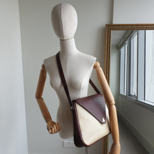 Hermès Christine, Brown Leather and Canvas