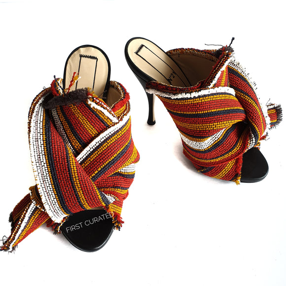 N°21 Multicolor Bow Heels, size 37.5