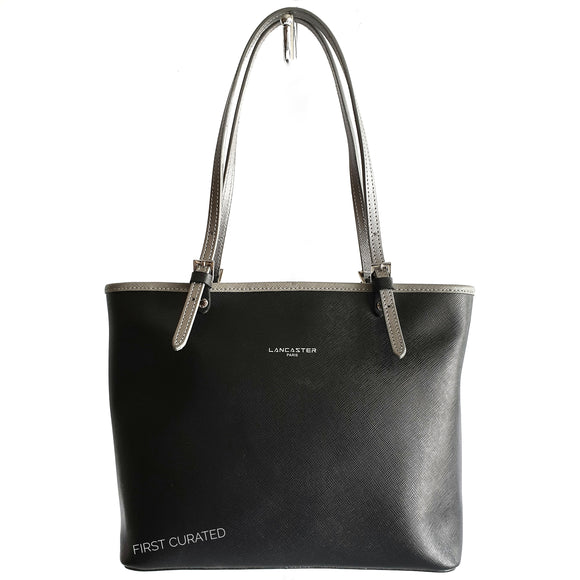 Lancaster Adele Tote, Black and Gray