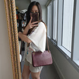 Chanel Bordeaux Purse with Vertical Quilts